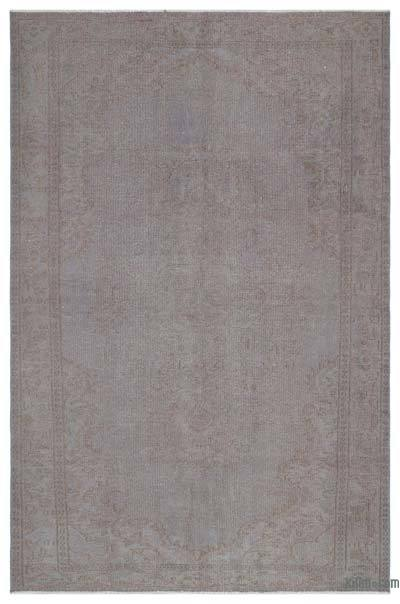 Grey Over-dyed Turkish Vintage Rug - 5'7'' x 8'9'' (67 in. x 105 in.)
