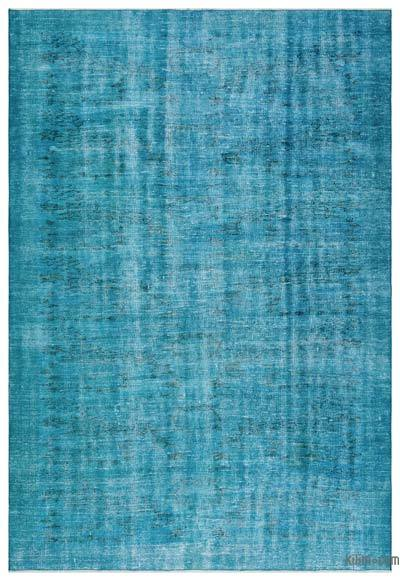 Turquoise Over-dyed Turkish Vintage Rug - 6' x 8'10'' (72 in. x 106 in.)