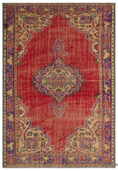 Turkish Vintage Area Rug - 6'5'' x 9'3'' (77 in. x 111 in.)