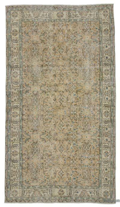 "Turkish Vintage Area Rug - 5'3"" x 9'5"" (63 in. x 113 in.)"