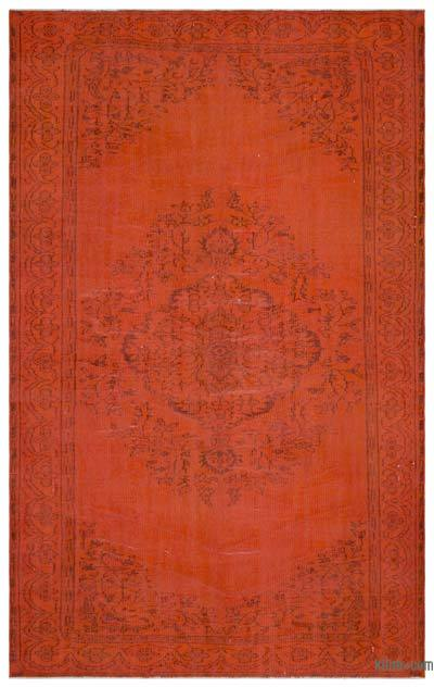 "Over-dyed Turkish Vintage Rug - 6'3"" x 10'1"" (75 in. x 121 in.)"