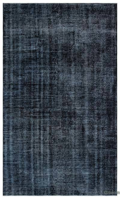 Black Over-dyed Turkish Vintage Rug - 5'5'' x 9'3'' (65 in. x 111 in.)
