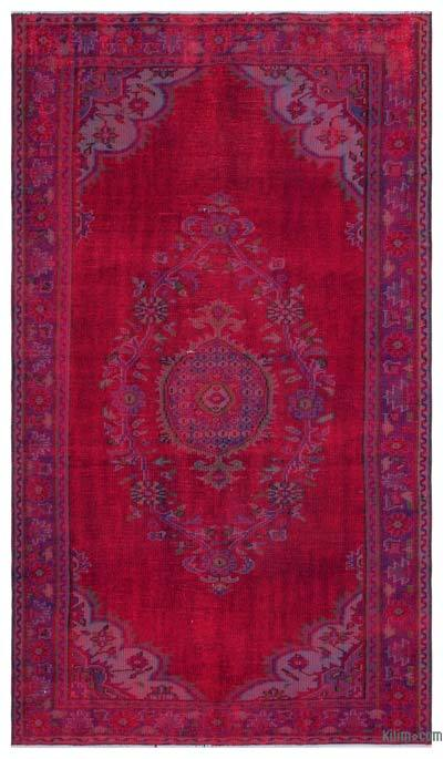 Over-dyed Turkish Vintage Rug - 5' x 8'10'' (60 in. x 106 in.)