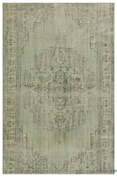 Over-dyed Turkish Vintage Rug - 5'7'' x 8'6'' (67 in. x 102 in.)