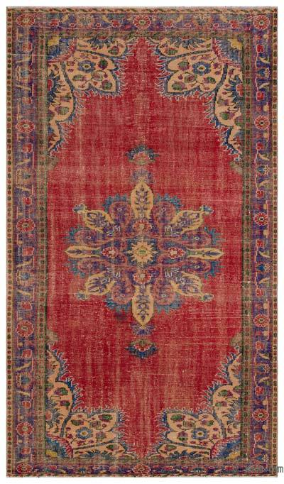 Turkish Vintage Area Rug - 5'9'' x 10' (69 in. x 120 in.)