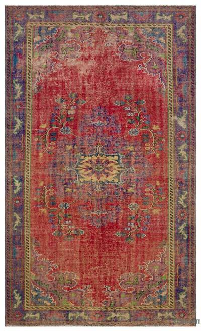 Turkish Vintage Rug - 5'3'' x 8'8'' (63 in. x 104 in.)