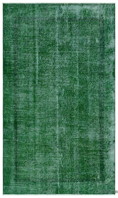 Green Over-dyed Turkish Vintage Rug - 3'8'' x 6'3'' (44 in. x 75 in.)