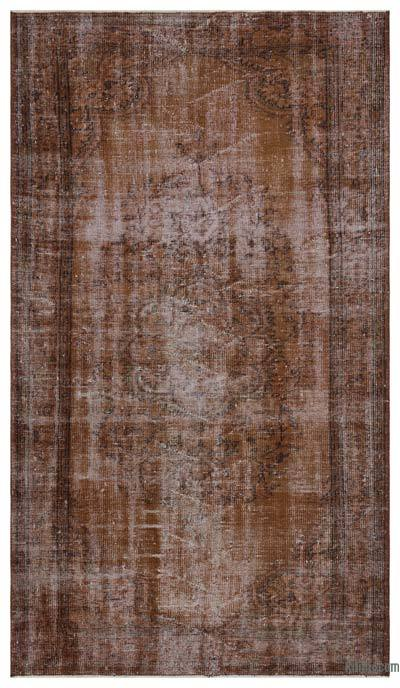 "Over-dyed Turkish Vintage Rug - 5'2"" x 9'3"" (62 in. x 111 in.)"