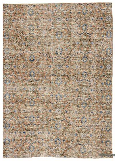 "Turkish Vintage Area Rug - 6'7"" x 9'4"" (79 in. x 112 in.)"
