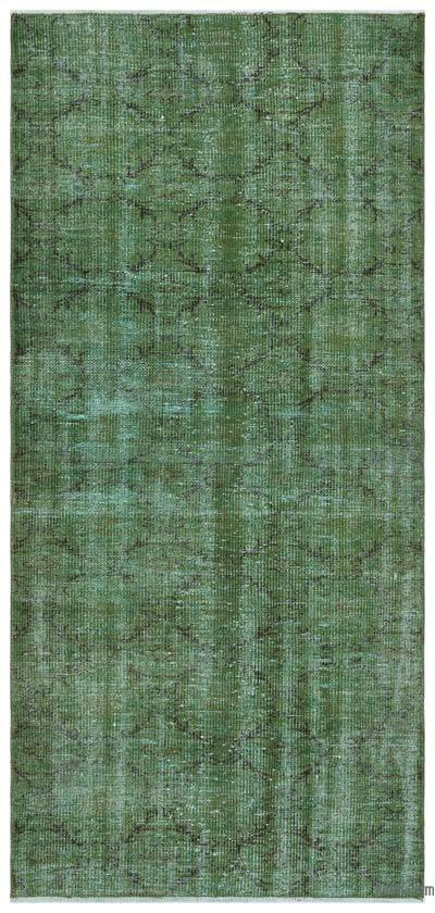 Green Over-dyed Turkish Vintage Rug - 3'1'' x 6'9'' (37 in. x 81 in.)