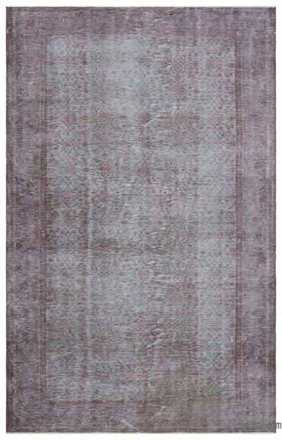 Grey Over-dyed Turkish Vintage Rug - 5'11'' x 9'5'' (71 in. x 113 in.)