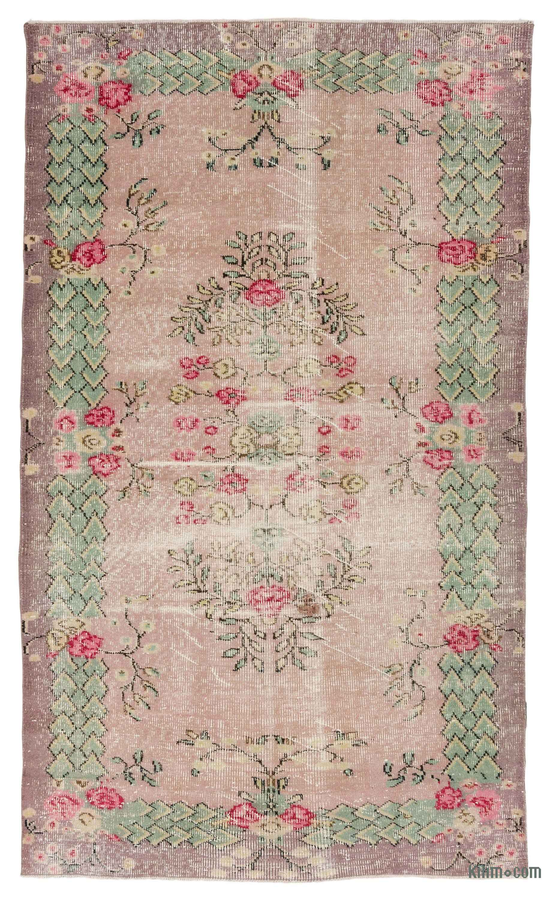 K0035701 Turkish Vintage Area Rug 5 3 Quot X 8 8 Quot 63 In X