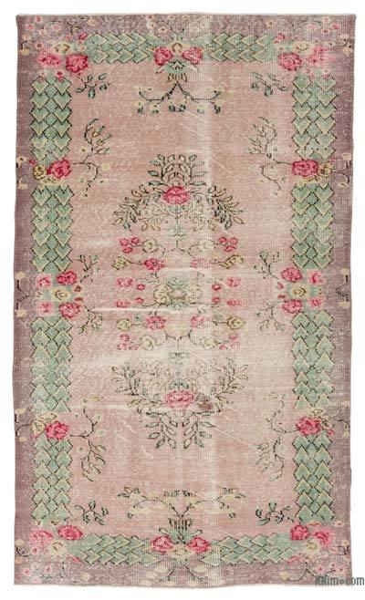 "Turkish Vintage Area Rug - 5'3"" x 8'8"" (63 in. x 104 in.)"