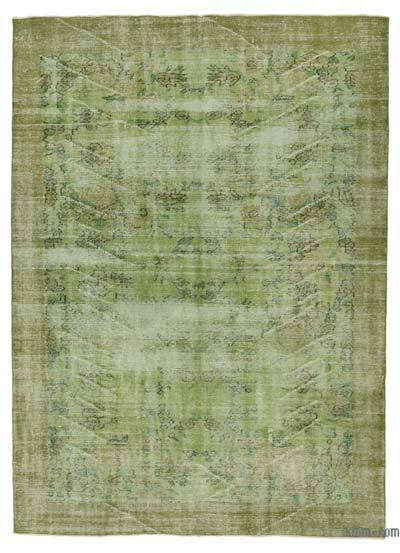 Green Over-dyed Turkish Vintage Rug - 6' x 8'4'' (72 in. x 100 in.)