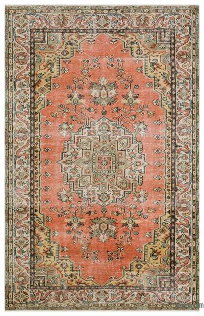 "Turkish Vintage Area Rug - 5'10"" x 9'4"" (70 in. x 112 in.)"