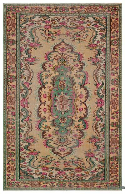 Turkish Vintage Rug - 5'5'' x 8'5'' (65 in. x 101 in.)