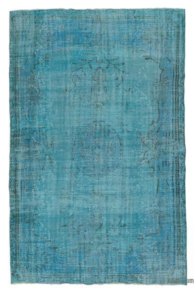 "Over-dyed Turkish Vintage Rug - 6'5"" x 9'7"" (77 in. x 115 in.)"