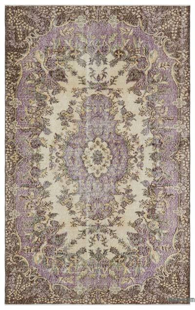 Turkish Vintage Area Rug - 5'2'' x 8'4'' (62 in. x 100 in.)