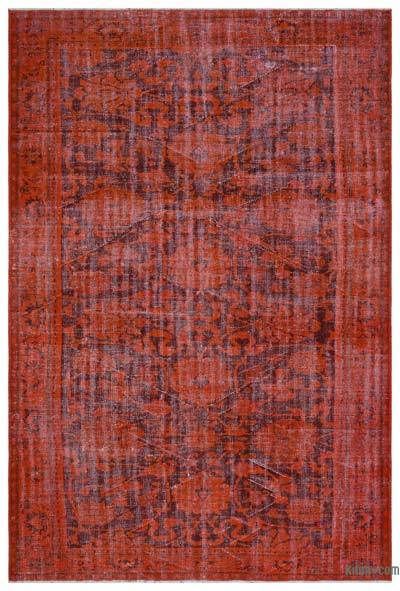 "Over-dyed Turkish Vintage Rug - 6'2"" x 9'3"" (74 in. x 111 in.)"