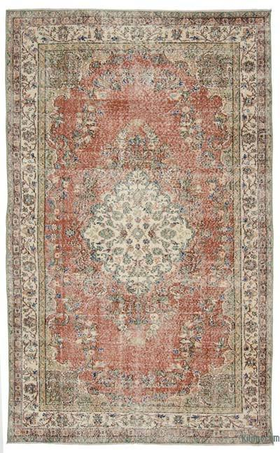 Turkish Vintage Rug - 5'5'' x 9' (65 in. x 108 in.)