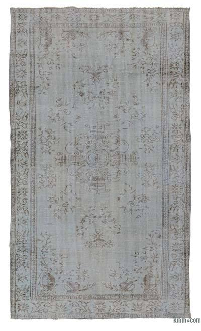 "Over-dyed Turkish Vintage Rug - 6'1"" x 10'5"" (73 in. x 125 in.)"