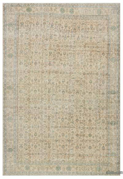 Beige Turkish Vintage Rug - 8'4'' x 12'3'' (100 in. x 147 in.)