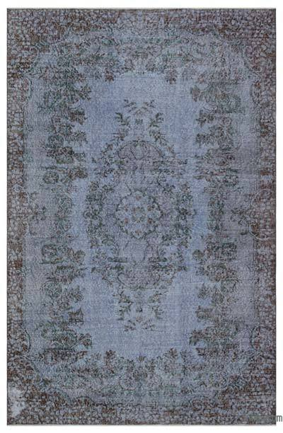 Grey Over-dyed Turkish Vintage Rug - 5'10'' x 8'11'' (70 in. x 107 in.)
