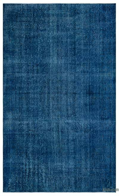 Blue Over-dyed Turkish Vintage Rug - 5'10'' x 9'7'' (70 in. x 115 in.)