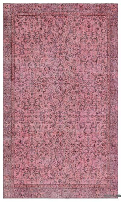 Pink Over-dyed Turkish Vintage Rug - 4'11'' x 8'2'' (59 in. x 98 in.)