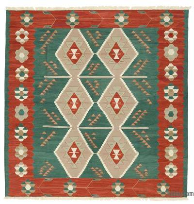New Turkish Kilim Rug - 8'3'' x 8'4'' (99 in. x 100 in.)