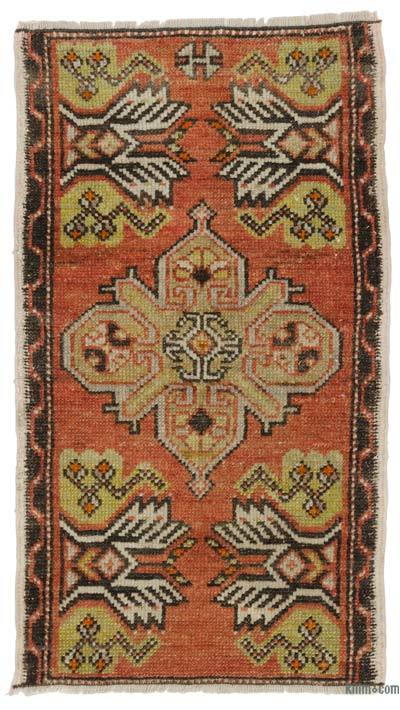 Turkish Vintage Area Rug - 1'7'' x 2'11'' (19 in. x 35 in.)