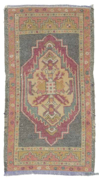 "Turkish Vintage Area Rug - 1'9"" x 3'2"" (21 in. x 38 in.)"