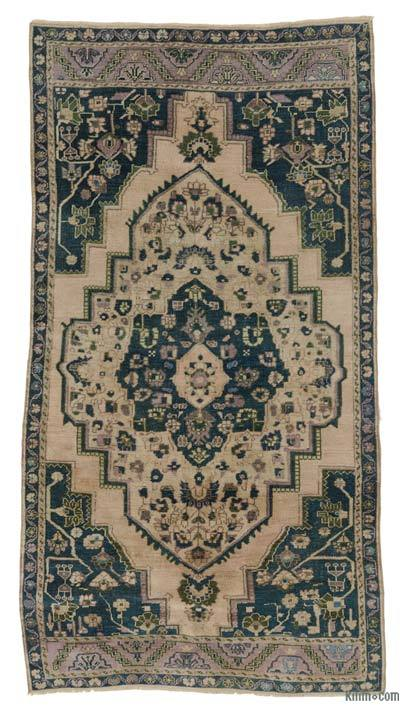 Turkish Vintage Area Rug - 3'6'' x 6'8'' (42 in. x 80 in.)