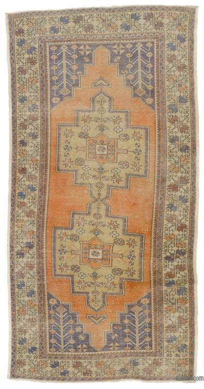 "Turkish Vintage Area Rug - 4'3"" x 8'6"" (51 in. x 102 in.)"