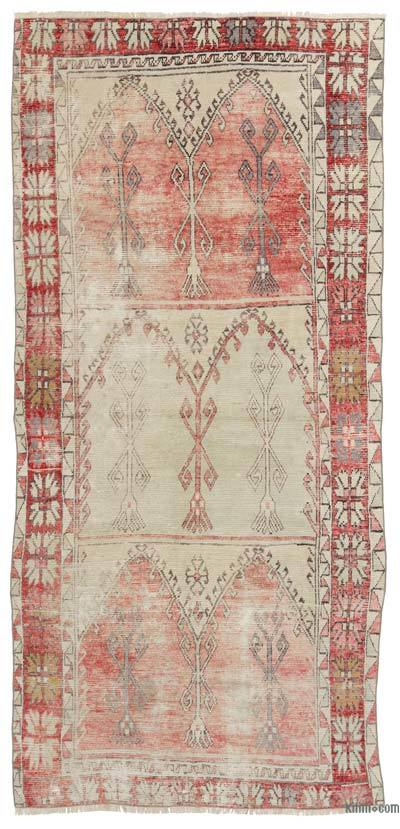 "Turkish Vintage Area Rug - 4'10"" x 10'3"" (58 in. x 123 in.)"