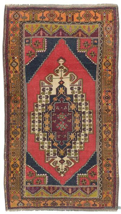 Turkish Vintage Area Rug - 4' x 7'3'' (48 in. x 87 in.)