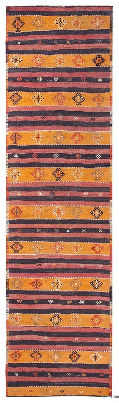 Yellow, Red Vintage Sivas Kilim Runner