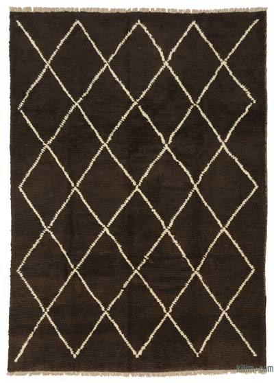 Brown, Beige New Turkish Tulu Rug - 8' x 11'5'' (96 in. x 137 in.)