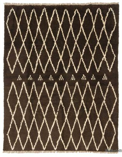 Brown, Beige New Turkish Tulu Rug - 8'3'' x 10'6'' (99 in. x 126 in.)