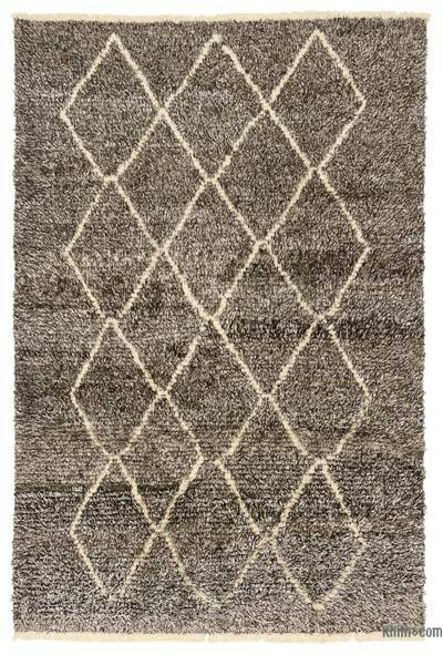 Brown, Beige New Turkish Tulu Rug - 6' x 8'11'' (72 in. x 107 in.)