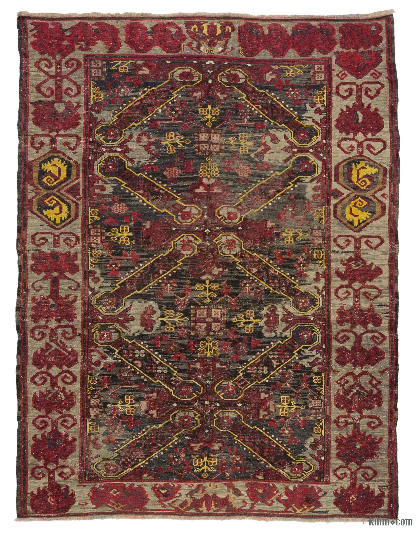 Multicolor Vintage Caucasian Soumak Rug