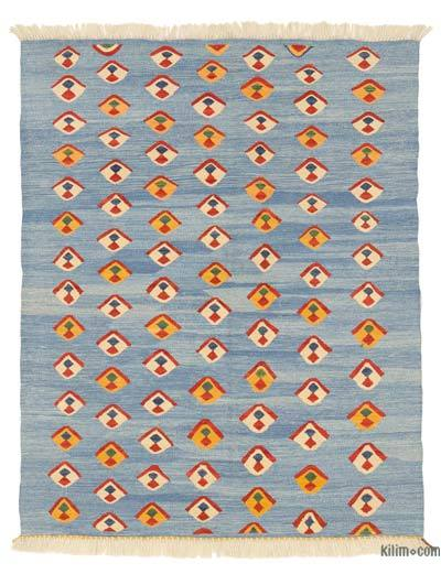 "New Handwoven Turkish Kilim Rug - 3'11"" x 4'10"" (47 in. x 58 in.)"