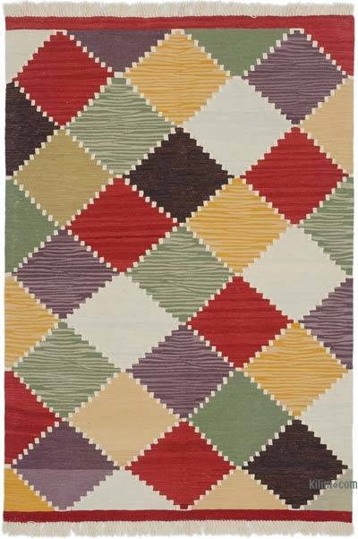 "New Handwoven Turkish Kilim Rug - 4'1"" x 5'11"" (49 in. x 71 in.)"