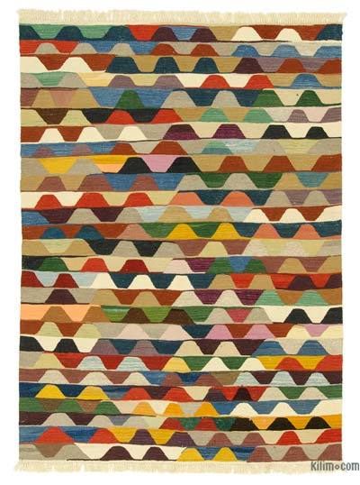 "New Handwoven Turkish Kilim Rug - 4'9"" x 6'6"" (57 in. x 78 in.)"