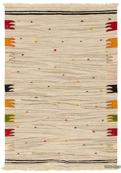 "New Handwoven Turkish Kilim Rug - 4' x 5'9"" (48 in. x 69 in.)"