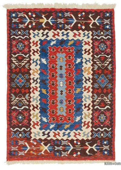 "New Handwoven Turkish Kilim Rug - 3'10"" x 5'4"" (46 in. x 64 in.)"