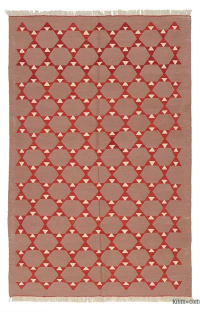 "New Handwoven Turkish Kilim Rug - 4'9"" x 7'3"" (57 in. x 87 in.)"