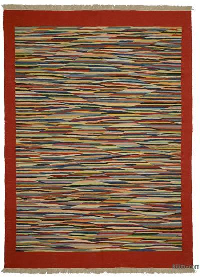 "New Handwoven Turkish Kilim Rug - 5'8"" x 7'11"" (68 in. x 95 in.)"