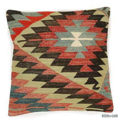 Kilim Pillow Cover - 1'4'' x 1'4'' (16 in. x 16 in.)