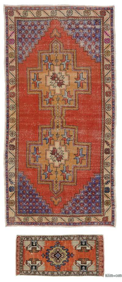 "Turkish Vintage Area Rug - 4'6"" x 8'7"" (54 in. x 103 in.)"